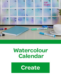 watercolour calendar