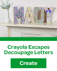 crayola escapes decoupage letters