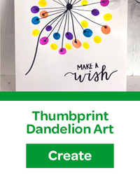 thumbprint dandelion art