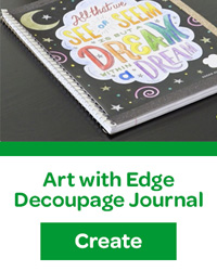 art with edge decoupage journal