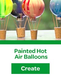 painted hot air balloons