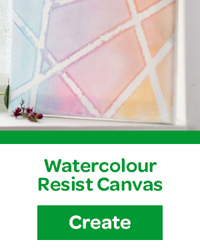 watercolour resist canvas