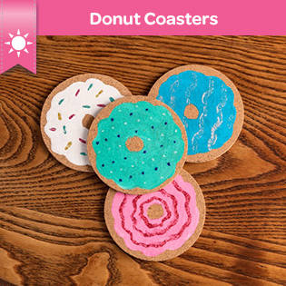 Donut Coasters Craft