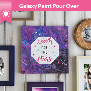 Galaxy Paint Pour Over Craft