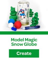 Model Magic Snow Globe