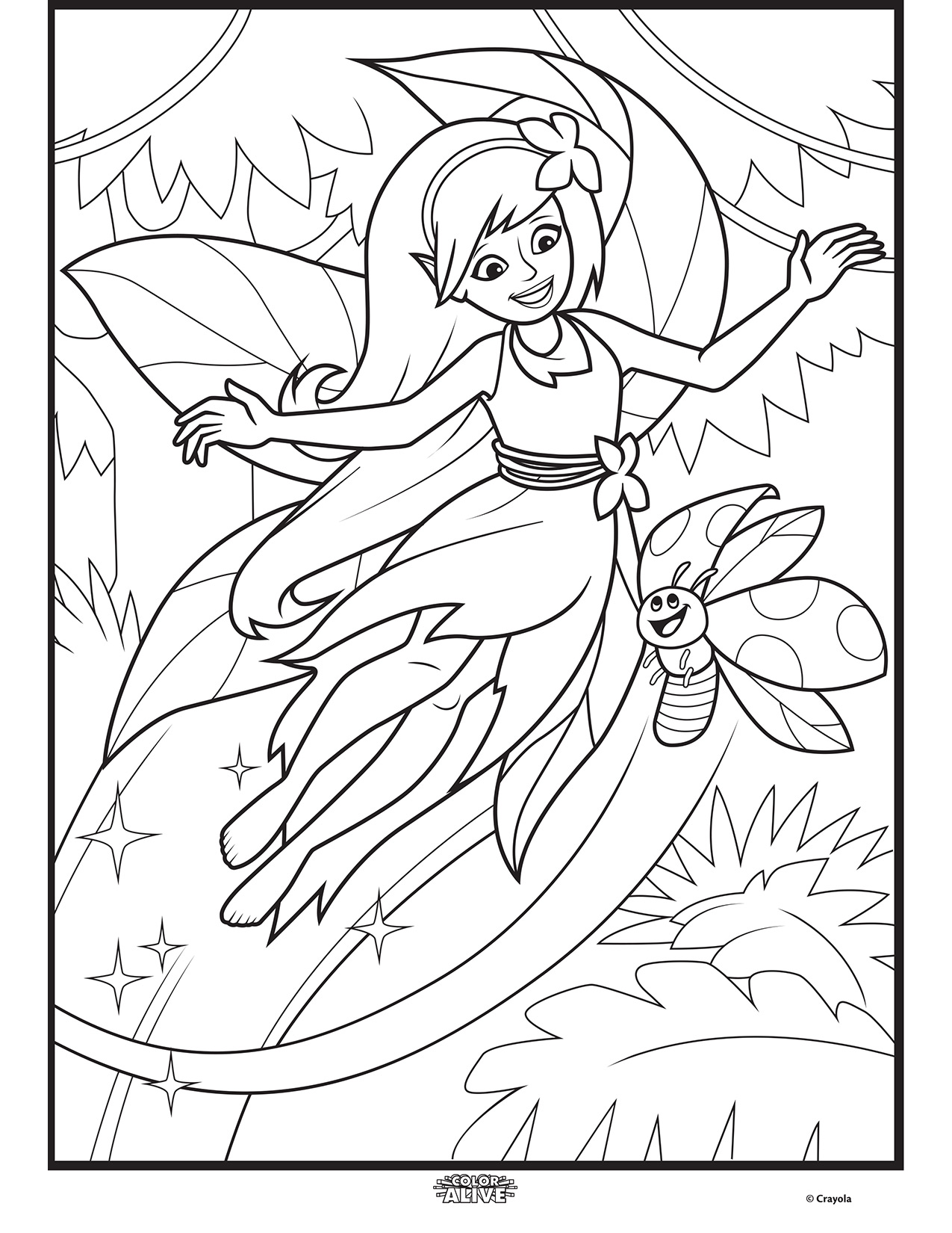Crayola Coloring Pages Autumn Leaves For Kids Printable Free