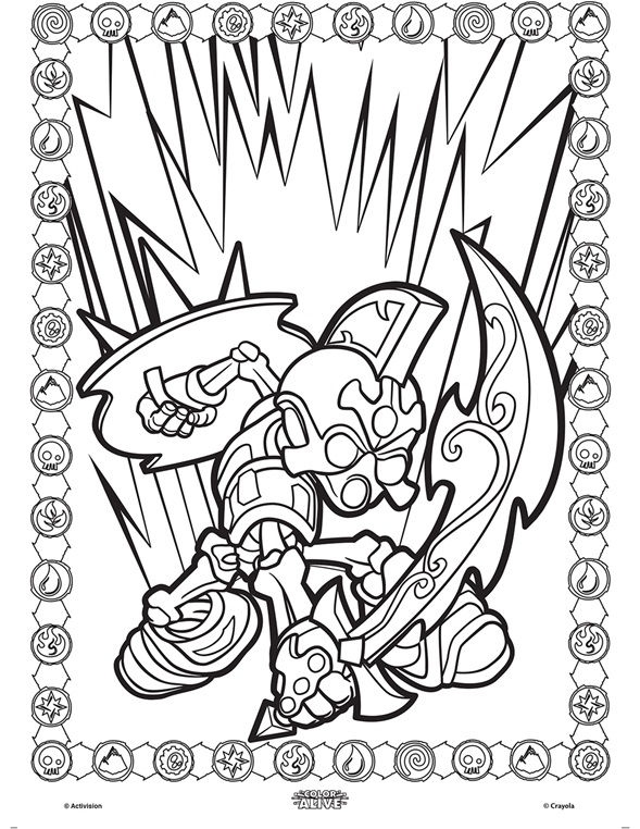 Colour alive skylanders for Crayola color alive coloring pages