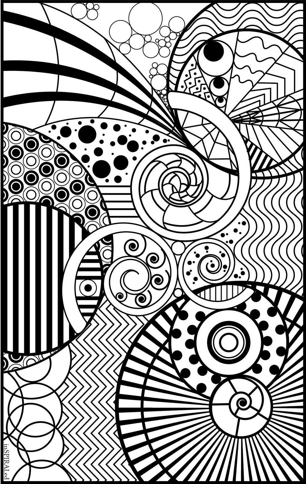 inspiraled adult colouring page inspiraled adult colouring page