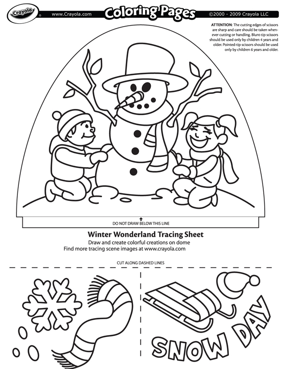 winter coloring pages crayola back - photo#4