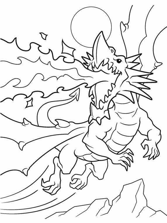 Fire Breathing Dragon Crayola Ca Crayola Tree Coloring Pages