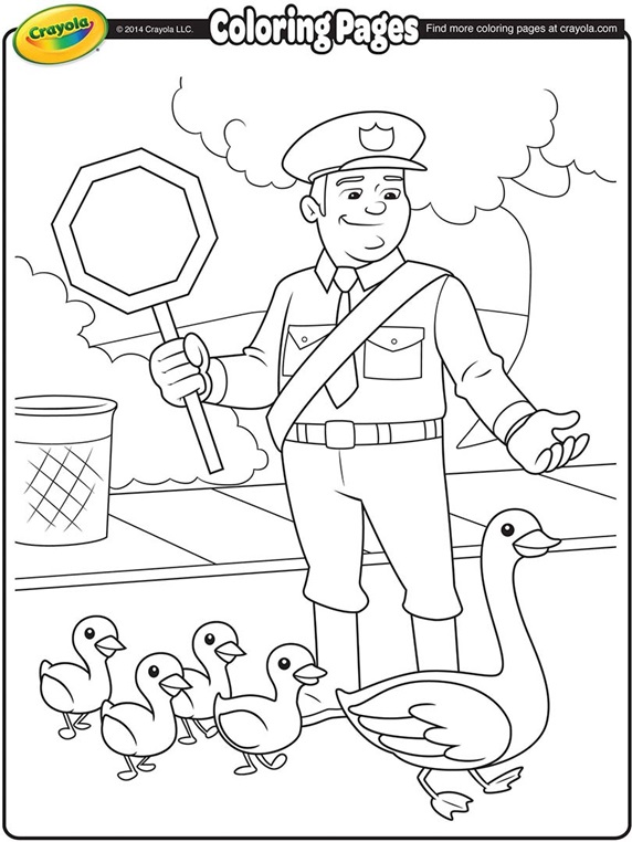 Color Guard Coloring Pages About School Crossing Guard
