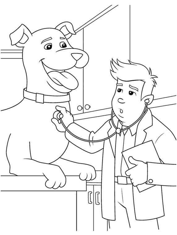 veterinary coloring pages - photo#2