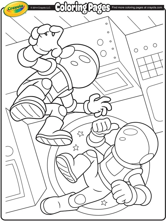astronaut suit coloring sheet - photo #32
