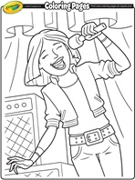 Musical Match - Up coloring page