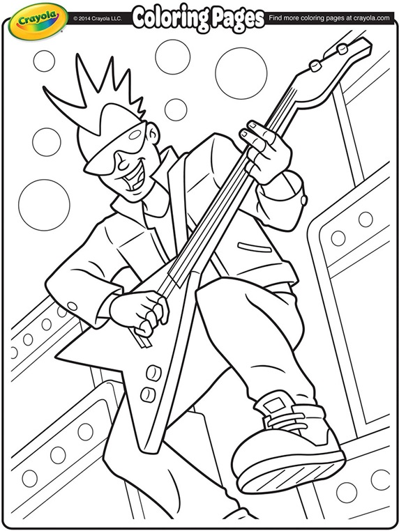coloring pages of rock bands - photo#1