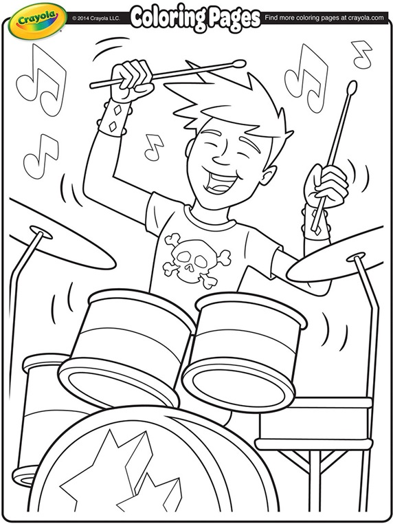 coloring pages of rock bands - photo#3