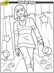 Joan of Arc coloring page