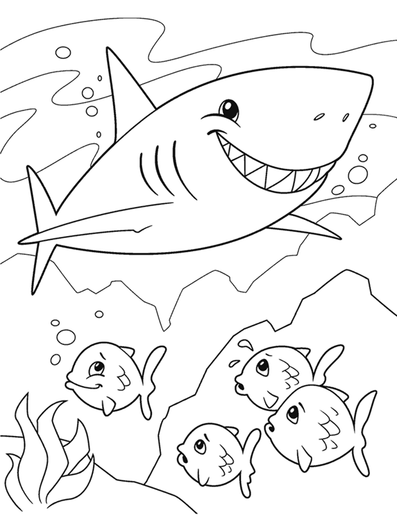 shark sheep coloring page - Coloring Pages Of Sharks