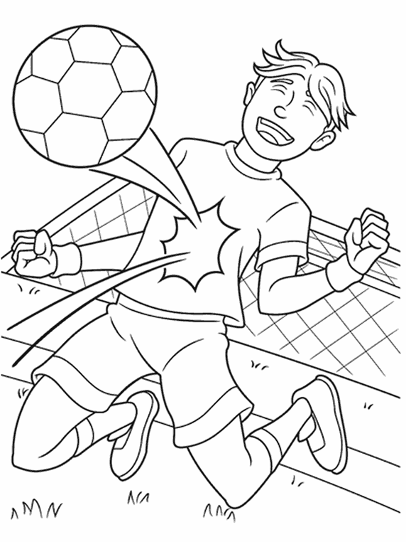coloring page soccer - soccer star