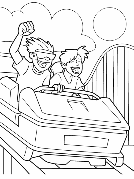 At The Fair Roller Coaster Crayola Ca Fair Coloring Pages