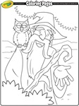 Witch coloring page