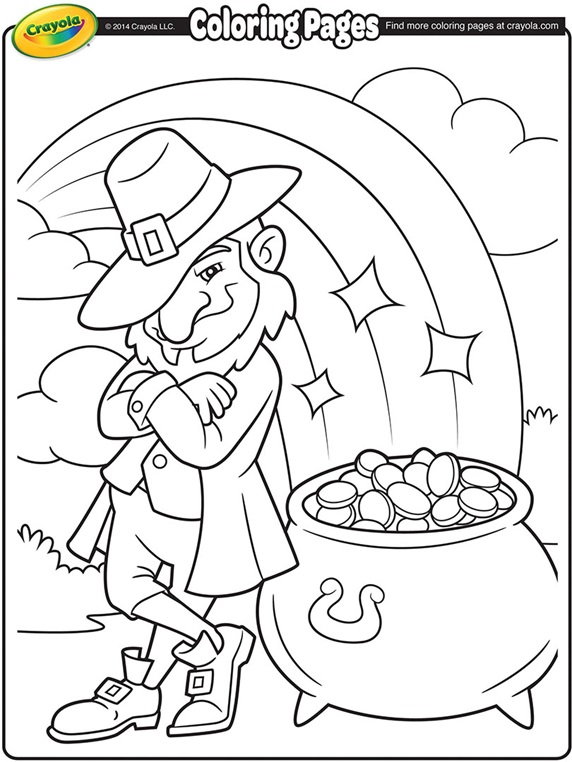 crayola shamrock coloring pages - photo#2