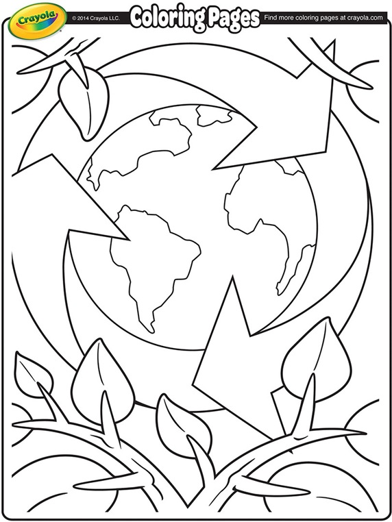 www crayola com free coloring pages - earth day recycling
