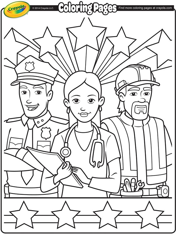 Coloring pages for labor day