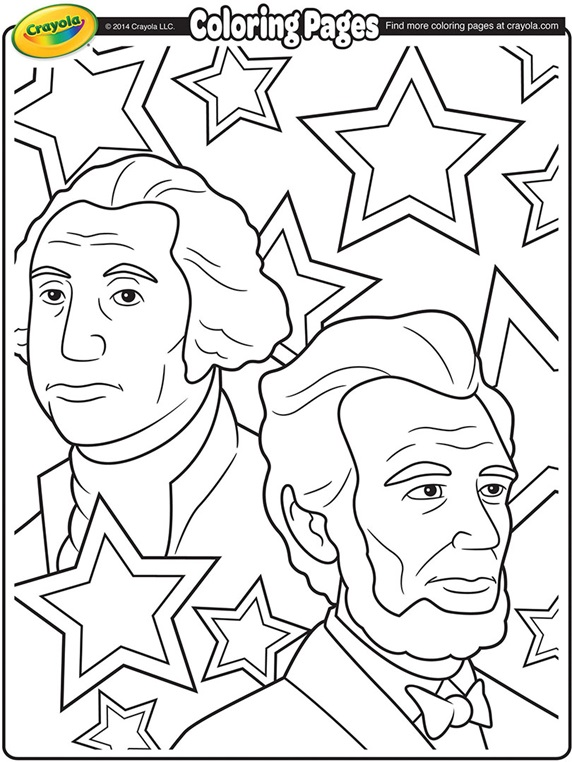 Presidents Day Crayola Ca Presidents Day Coloring Page