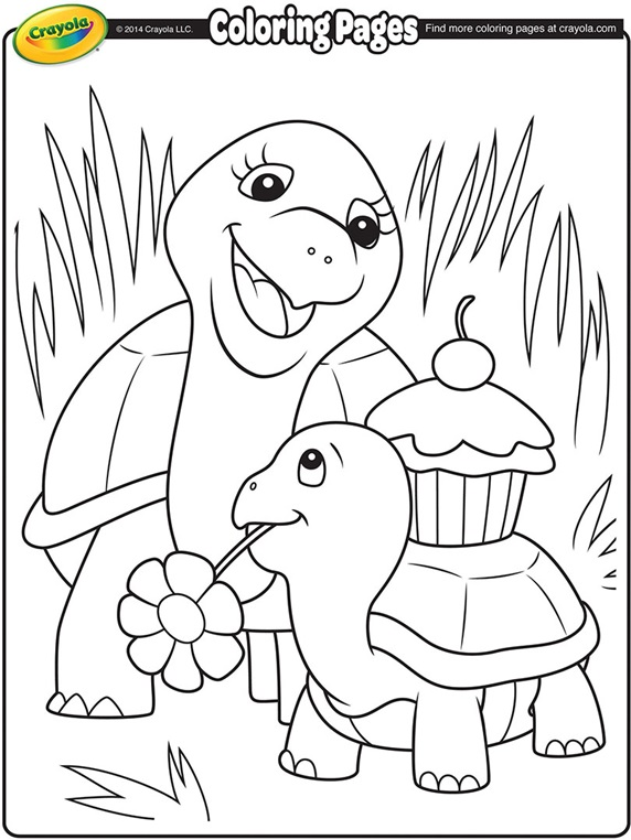 Mother S Day Turtles Crayola Ca Free Coloring Pages Crayola