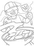 Summer BBQ Colouring Page