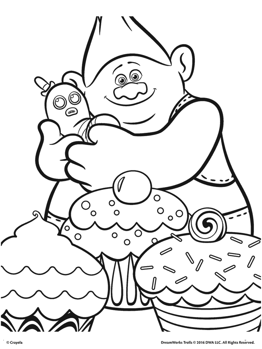 Free coloring pages of trolls - Dreamworks Trolls Coloring Pages Getcoloringpages Com
