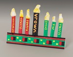 Folded Paper Kwanzaa Kinara craft