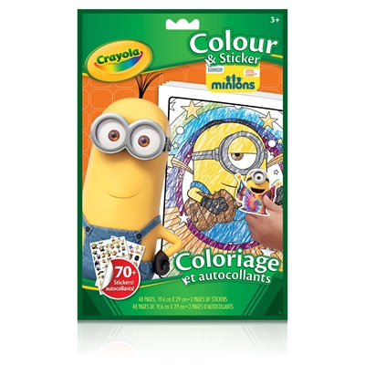 Minions Colour & Sticker Book