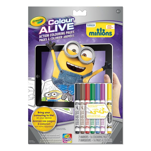 about colour alive minions crayola