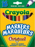 12 ct. Crayola Assorted Broad Line Markers