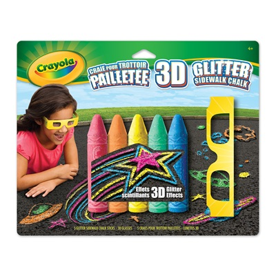 Glitter Sidewalk Chalk Kit