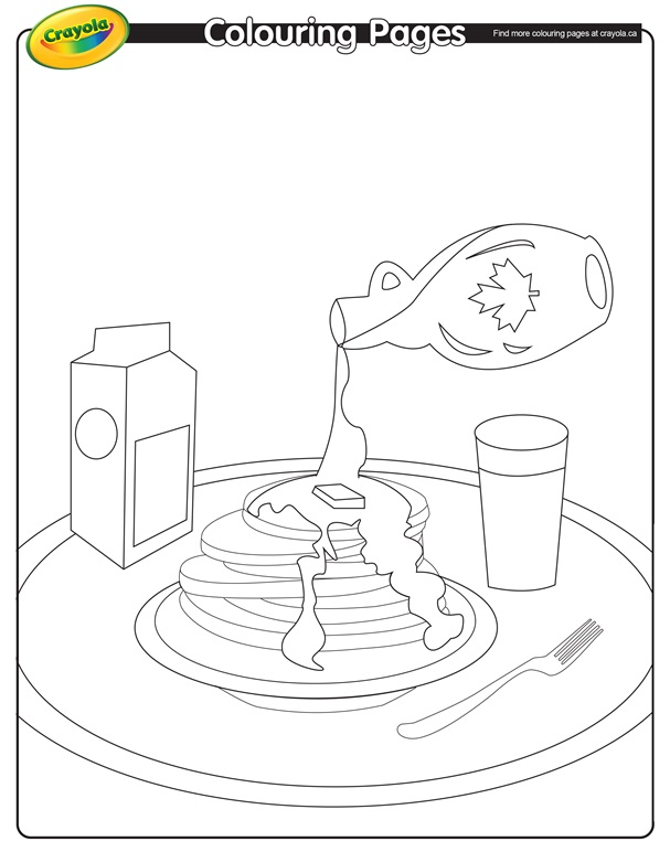 pancakes coloring pages - photo#13