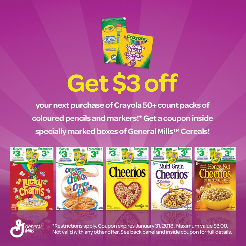 General Mills Cereal coupon offer 2017